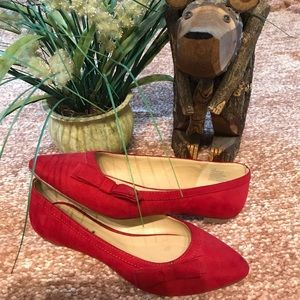 🌻Cute Red Flats With Bow🌻
